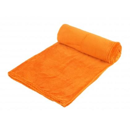 Hřejivá deka z coral fleece, oranžová, 155x120 cm