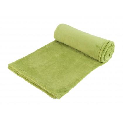Hřejivá deka z coral fleece, zelená 155x120 cm