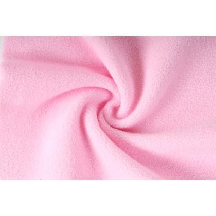 Fleece, micropolar 240g světle růžová,  látky, metráž