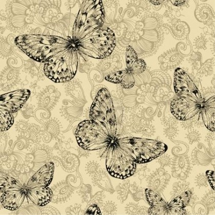 Látka na legíny a plavky, plavkovina, úplet LEGGINE , vzor motýli, metráž, látka