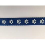Popruh polypropylenový 20mm modrý s tlapičkami, galanterie, metráž