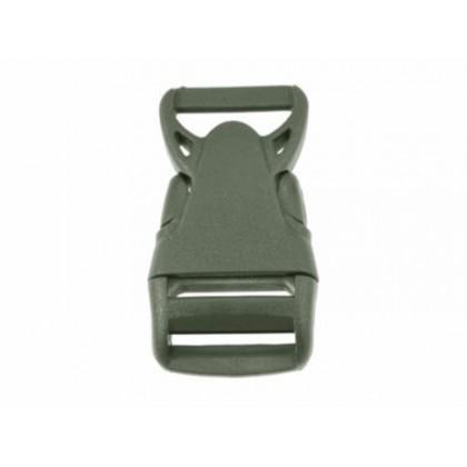 Plastový trojzubec rovný 25 mm khaki