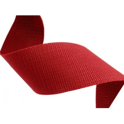 Popruh polypropylenový 10mm červený, galanterie, metráž