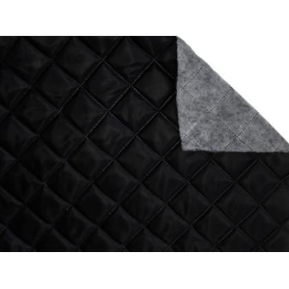 Podšívka polyesterová, prošívaná 5x5 tavené sváry, zateplená, černá,  metráž, látka