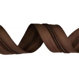 Zip spirálový, nekonečný pás 3mm, hnědý, metráž