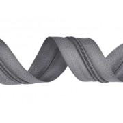 Zip spirálový, nekonečný pás 3mm, šedý, metráž