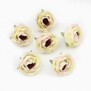 Květ kamélie, textilní dekorace, květina krémová
