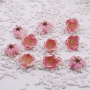 Květ třešeň, textilní dekorace, květina růžová