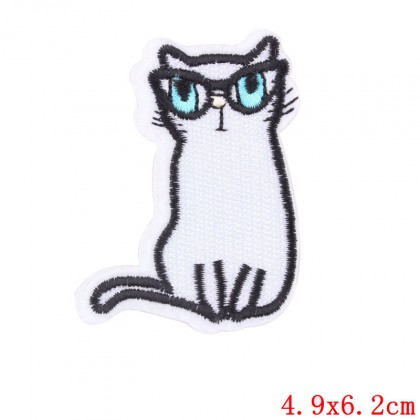 Nažehlovačka, nášivka, aplikace kočka modroočka