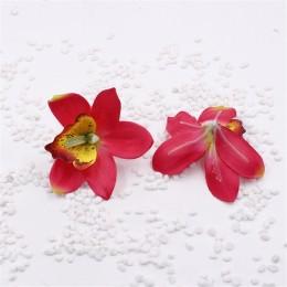 Květ orchidej, textilní dekorace, květina červená