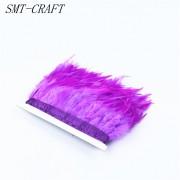 Prýmek z krůtího peří 12-15 cm, fialový