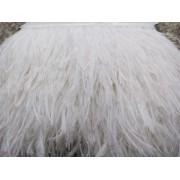 Prýmek z pštrosího peří 10-12 cm, bílý