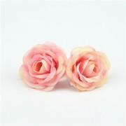 Růže čajová s růžovou 3 cm, textilní dekorace, květina