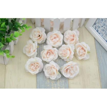 Růže 4,5 cm, čajová textilní dekorace, květina