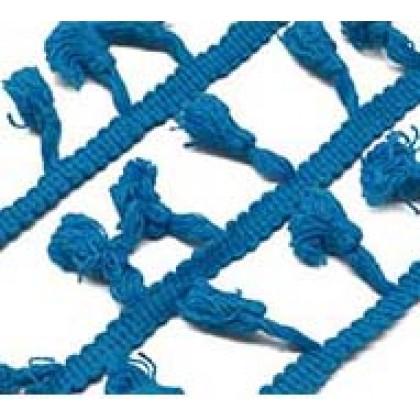 Prýmek - střapečky 40 mm, fialová, střední modrá