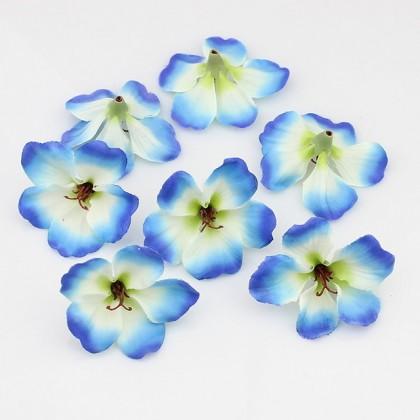 Květ HAWAI, textilní dekorace, květina modrá