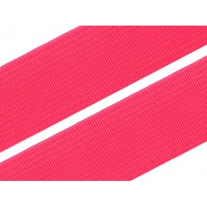 Guma, pruženka prádlová růžová reflex 20mm, metráž