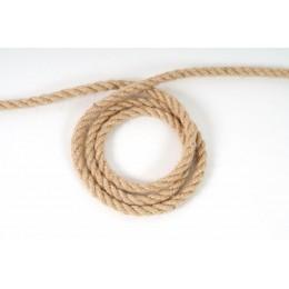 Provaz - juta, jutové lano 8 mm, přírodní, metráž