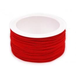 Guma, pruženka kulatá kloboučnická červená 1,2mm, metráž