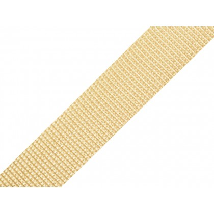 Popruh polypropylenový 20mm béžový, galanterie, metráž