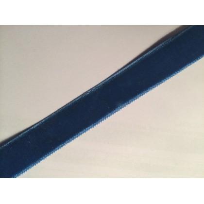 Sametová stuha, sametka šíře 16mm, modrá