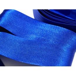 Šikmý proužek saténový modrý šíře 30 mm zažehlený