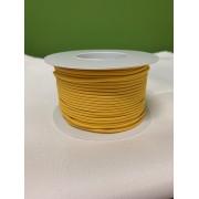 Guma, pruženka kulatá kloboučnická žlutá 2,6 mm, metráž