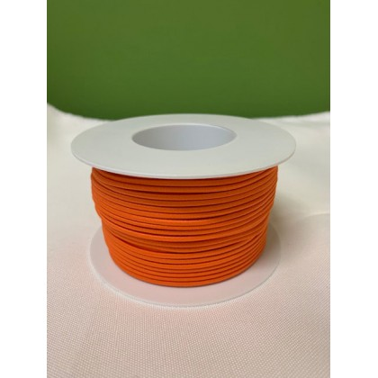 Guma, pruženka kulatá kloboučnická oranžová 2,6 mm, metráž