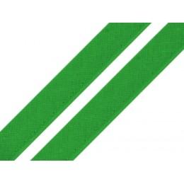 Paspulka bavlněná, výpustek 12 mm zelená, metráž