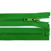 Zip kostěný, dělitelný, 5mm, 30cm délka, zelený