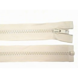 Zip kostěný, dělitelný, 5mm, 35cm délka, béžový