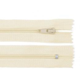 Zip spirálový, nedělitelný, 3mm, 20 cm délka, béžový