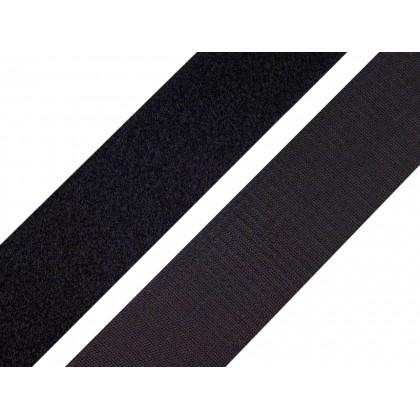 Suchý zip 25 mm černý, metráž smyčky