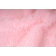 Kožešina, dlouhý vlas 40mm, růžová , látky, metráž