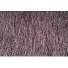 Kožešina, dlouhý vlas 60mm, růžový melír, látky, metráž