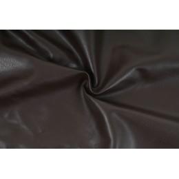 Koženka textilní tmavě hnědá, metráž