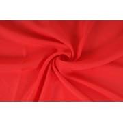 Šífon,chifon, jasně červená barva, látka, metráž šíře 150 cm, AKCE, SLEVA -50%,