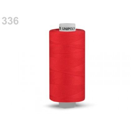 Nit polyesterová profesionální 120, Hagal, UNIPOLY, 5000 m, královská červená