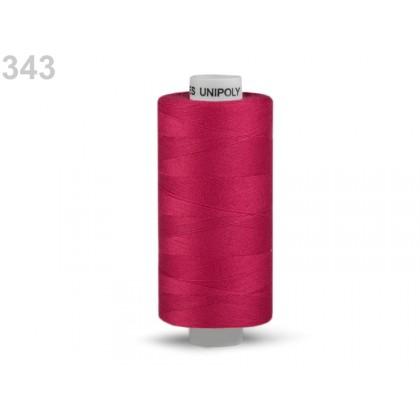 Nit polyesterová profesionální 120, Hagal, UNIPOLY, 5000 m , tmavě růžová