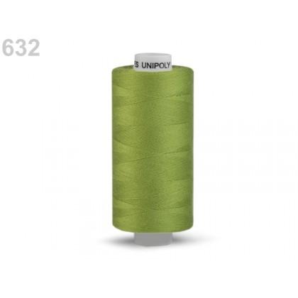 Nit polyesterová profesionální 120, Hagal, UNIPOLY, 5000 m, hráškově zelená