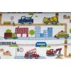 Plátno bavlněné, bagry a náklaďáky, metráž, látky