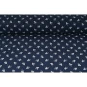 Plátno bavlněné, modrotisk XI.,  jemné kvítečky, krojovka, metráž, látky