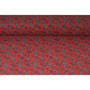 Plátno bavlněné červené ORIENT, metráž, látky