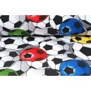 Plátno bavlněné, fotbalové míče, metráž, látky