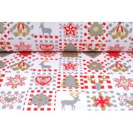 Plátno bavlněné vánoční motivy, metráž, látky