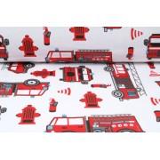 Plátno bavlněné hasiči, metráž, látky