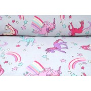 Plátno bavlněné, unicorn, jednorožec, metráž, látky