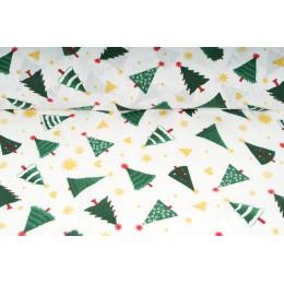 Plátno bavlněné -  vánoční motiv, vánoční stromeček , metráž, látky