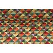 Plátno bavlněné art deco trojůhelníky,  metráž, látky