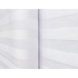 Bavlněný damašek, bílá, pruhy 2cm